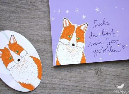 Aufkleber, Sticker Fuchs