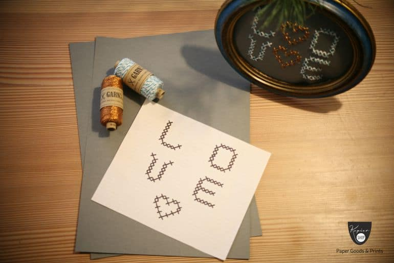 Love Schrift Garne