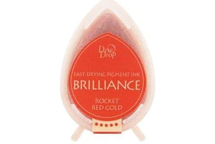 """Stempelkissen Tsukineko Dew Drop """"Brilliance"""" rocket red gold"""