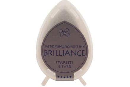 """Stempelkissen Tsukineko Dew Drop """"Brilliance"""" starlite silver"""