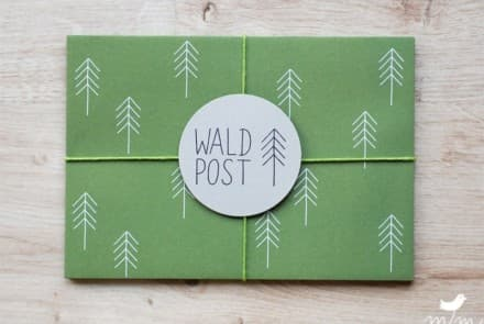 "Kuvert ""Waldpost grün"""