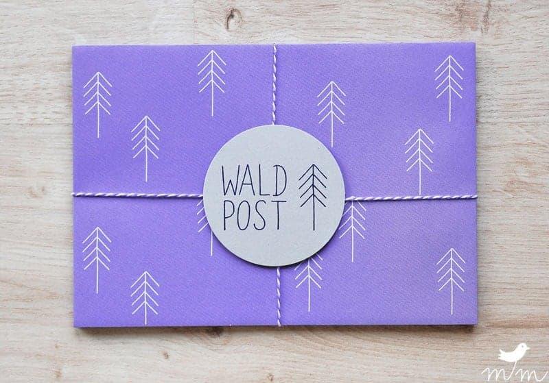 """Kuvert """"Waldpost lila"""""""