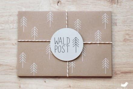 "Kuvert ""Waldpost natur"""
