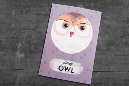 """Grußkarte """"Owl"""""""