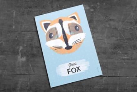 """Grußkarte """"Fox"""""""