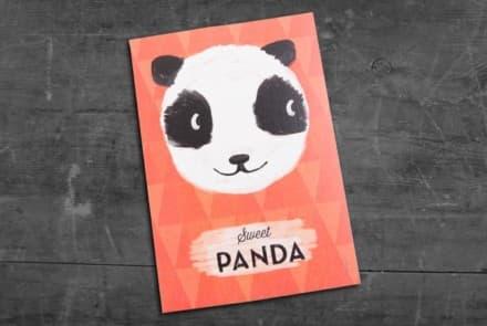 "Grußkarte ""Panda"""