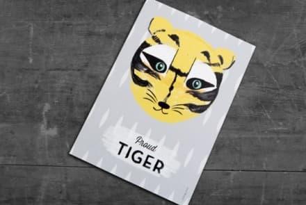 """Grußkarte """"Tiger"""""""