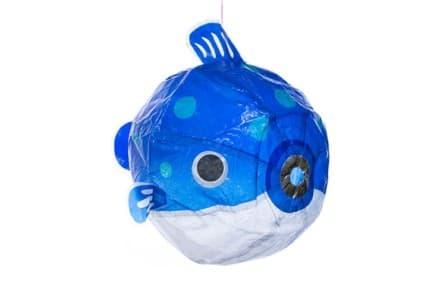 "Japanischer Papierballon ""Blauer Kugelfisch"""