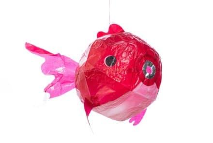 """Japanischer Papierballon """"Roter Kugelfisch"""""""