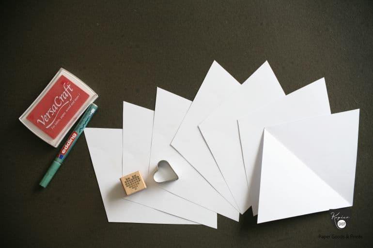 Wimpelkette Materialien