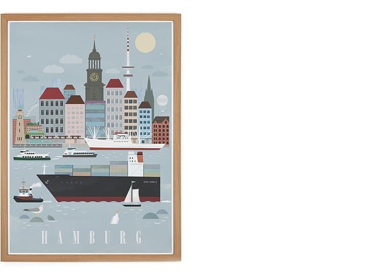 """Poster """"Hamburg"""""""