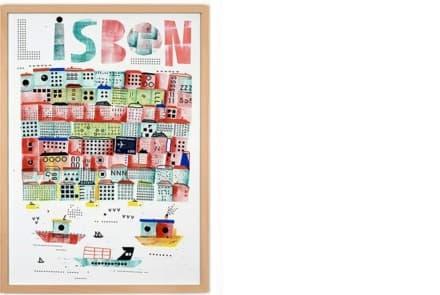 """Poster """"Lissabon"""""""