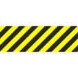 Fußboden-Warnmarkierung mit Antirutschlaminat 10x100cm gelb-schwarz