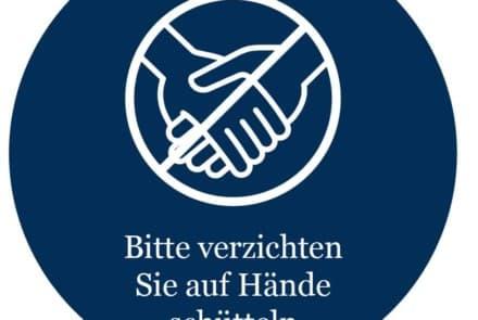 """Corona-Wand-Aufkleber rund: """"Händewaschen"""""""